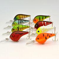 8pcs/Lot Plastic Fishing Lures Bass CrankBait Crank Bait Tackle Hook 11.2g/9.5cm