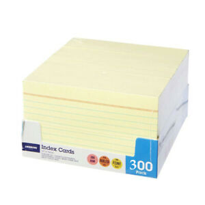 300 Cards Note Flash Index Cards Palm Cards 200 gsm Ruled Margin 300 pack