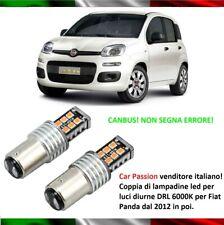 COPPIA LUCI DI POSIZIONE 15 LED BAY15D P21/5W FIAT PANDA 2012 6000K CANBUS BIANC
