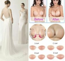 Wingslove Strapless Silicone Bra Push-up invisible Nude Bra with storage bag