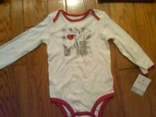 NWT GIRLS CARTER'S CHRISTMAS LONG SLEEVE BODYSUIT SANTA LOVES ME 24 MONTHS