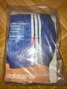 Vintage Oldschool ADIDAS Shorts SANTIAGO glanz shiny blau Größe 4 neu OVP