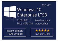 License / Licenza Microsoft Windows 10 Enterprise LTSB 2016