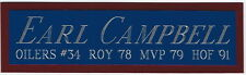 EARL CAMPBELL HOUSTON OILERS NAMEPLATE FOR AUTOGRAPHED Signed FOOTBALL JERSEY
