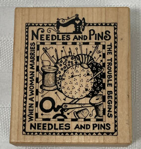 PSX Needles and Pins Rubber Stamp USA G-1340 New Vintage