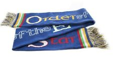 "OES Order of the Eastern Star Blue Knit Scarf - 70"" x 6.5"" Warm"