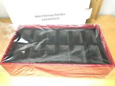 CARTIER Red Storage Box for Watches, Jewelry, Eyeglasses, New
