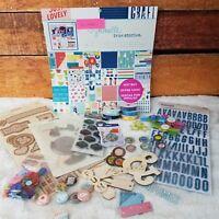 Scrapbooking Craft Lot 6 Papercrafting Embellishments Stickers Chipboard Destash