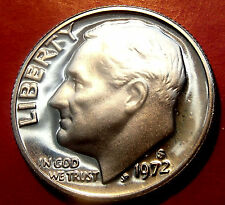 Proof US 1972  S Roosevelt Dime,  Proof Mirror Surfaces. Just a touch of Frost!