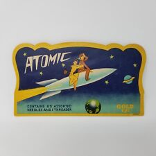 Atomic Mid Century Modern Sewing Notions Needles in Paper Envelopes Gold Eye