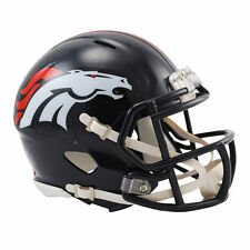 NFL Football Mini Casque Tête casquée Denver Broncos Speed neuf dans sa boîte Riddell Football