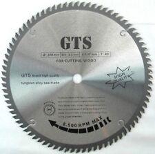 "GTS 10"" 80 Tooth Carbide Circular Saw Blade 5/8 Arbor TCT *EURO FINISHING* (E2)"