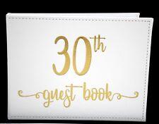 30th Birthday Sign Keepsake White Modern Signature Guest Book Memories Present