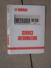 1988 Yamaha FM200DX W ('89) Motorcycle Service Manual Exploded Diagrams  T