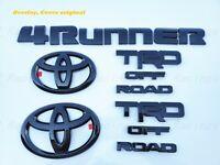 Toyota Tacoma 2005-2015 4 Flat Black Emblems with 4x4 Genuine OEM OE