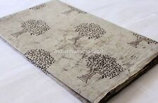 10 Yard Hand block Print Fabric Indian Soft Cotton Jaipur Sanganer Natural Color