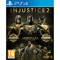 Injustice 2 Legendary Edition PLAYSTATION PS4 (inc all characters) New & Sealed