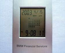 BMW Financial Service World Time Calendar GMT Analog and Digital Desk Clock
