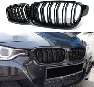 2x Front Bumper Kidney Grilles Grill For BMW F30 320i 328i 335i xDrive 2012-2017