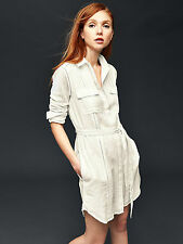 NWT GAP Embroidered shirtdress, New Off White SIZE S  #178018