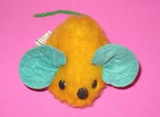 VINTAGE RARE 1976 RUSS BERRIE YELLOW MOUSE TURQUOISE EARS NUTSHELL NICE TAG CUTE