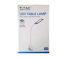 V-TAC VT-1008 97635 LED TABLE LAMP LAMPADA DA TAVOLO CON PINZA 7 W AC 100-240 V