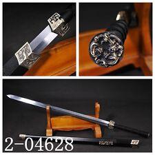 HIGH QUALITY CHINESE SWORD HAN JIAN (漢劍) CARBON STEEL BLADE SOLID WOOD SAYA#091