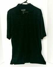 Ocean Pacific Men's Polo Shirt Sz L Short Sleeve Cotton Blend Black