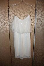 Aidan Mattox White Sequin Bridal Shower Rehearsal Blouson Mini Dress 2