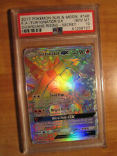 PSA-10 FULL ART Pokemon TURTONATOR GX Card GUARDIANS RISING Set 148/145 Secret