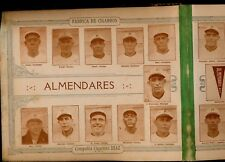 1923-24 Tomas Gutierrez album Almendares team negro league cards sheet Marsans