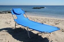 Folding Beach Chaise Lounge Portable Light Weight Garden Patio Beach New!