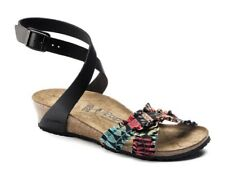 Birkenstock Papillio Lola Floral Frills 38 Stretch Leather Ankle Strap Sandals