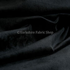 10 Metres Of Luxurious Plump Chenille Invitingly Soft Upholstery Fabric In Black