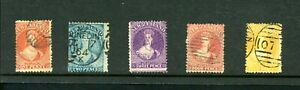 New Zealand Victoria 'Chalons',  Perforate  5 Values   fine-used     (O546)