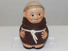 Goebel Friar Tuck Monk Sugar Bowl Set W Germany  Z37