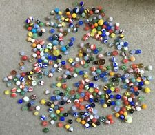 Vintage Marble Lot 300+ Total Various Sizes Colors Glass Estate Old Collectible