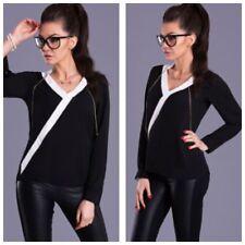 Damenblusen, - tops & -shirts mit V-Ausschnitt aus Chiffon für Party-Blusen