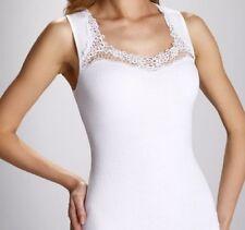 "White Black T-shirt Top Camisole Cami Vest  ""Porta"" Square Neck Sleeveless"