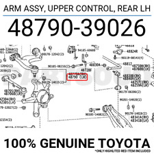 4879039026 Genuine Toyota ARM ASSY, UPPER CONTROL, REAR LH 48790-39026