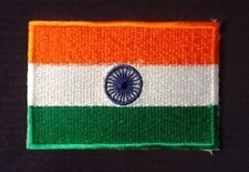 INDIA INDIAN NATIONAL FLAG BADGE IRON SEW ON PATCH CREST SHIELD BACKPACKER ASIA