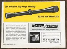1967 Weaver Scopes El Paso Tx Long Range Shooting Scope Model K12 Print Ad