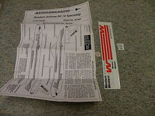 Aerocolours decals 1/144 Sheet#AC407 Western Airlines DC-10 Spaceship    Box 11