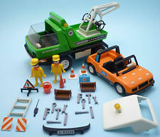 PLAYMOBIL System 3473 City Autocar Service Tow Truck & Car - INCOMPLETE set