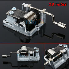 Beautiful Song Mechanical Hand Crank 18 Notes Music Box Set Movement DIY Crafts