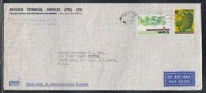 SINGAPORE Commercial Cover Singapore to World Trade Center 13-3-1975 Cancel