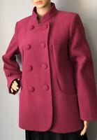 Wardrobe Womens Tailored Lined Single Breasted Jacket Uk Size 12 Cerise Pink Gc