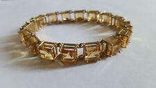 Stunning & Heavy 9ct Gold Citrine Bracelet