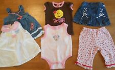 Girls infant size 6-9 mo, lot of 6, shirts, pants, skirt, Minnie, Mommy #984