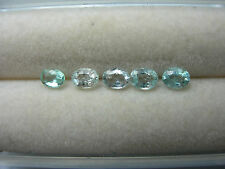 5 rare Paraiba Tourmaline Gems Teal Blue Green Mozambique Copper Bearing Cuprian